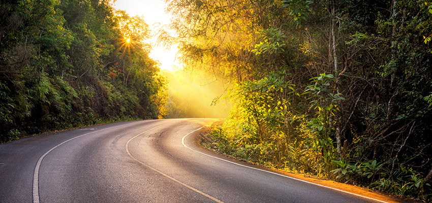 Road to sunrise